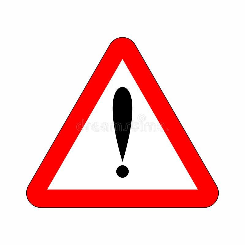 Aandachtsteken in driehoek Rood het gevaarsknoop en waarschuwingsbord van het aandachtspictogram vector illustratie