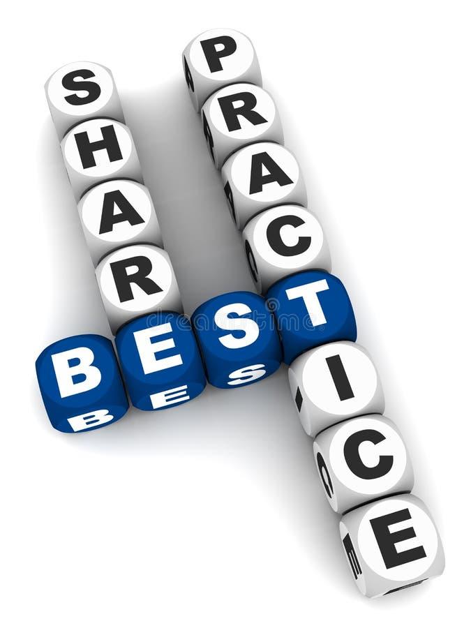 Aandeel beste praktijken stock illustratie