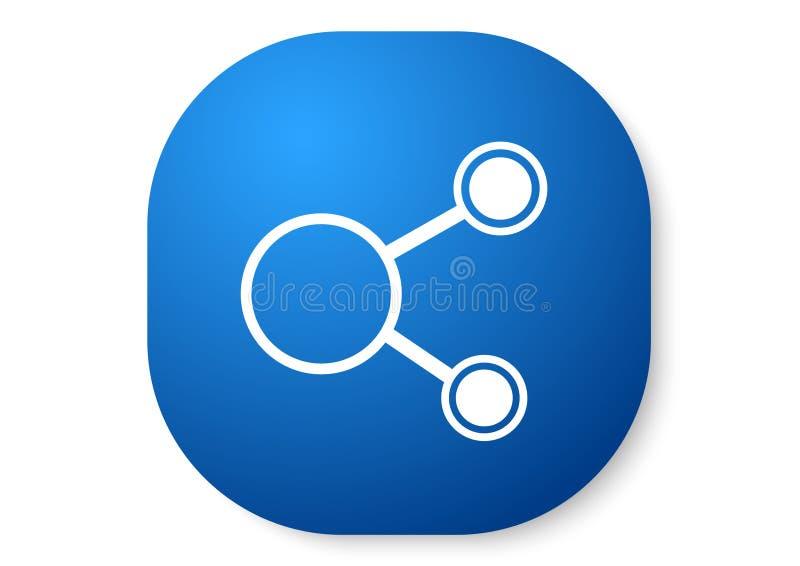 aandeel blauw pictogram vector illustratie