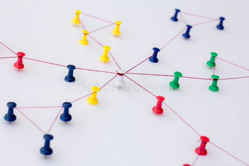 Aaneenschakelingsentiteiten Voorzien van een netwerk, sociale media, Internet-communicatie samenvatting stock afbeelding