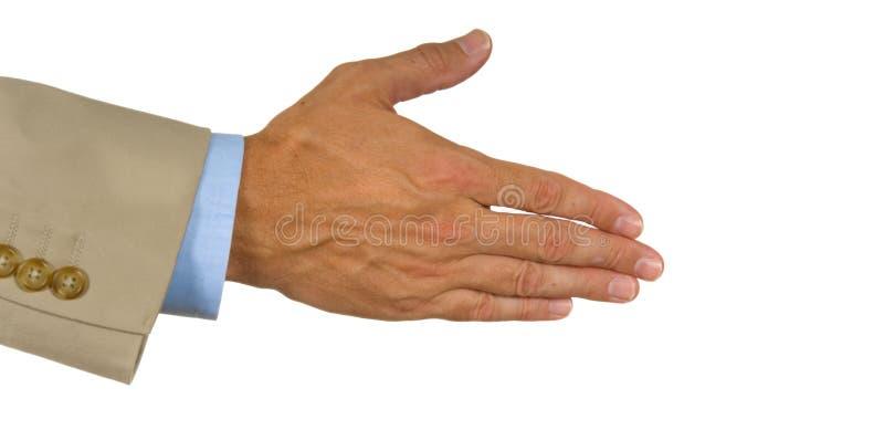 Aangeboden hand stock foto