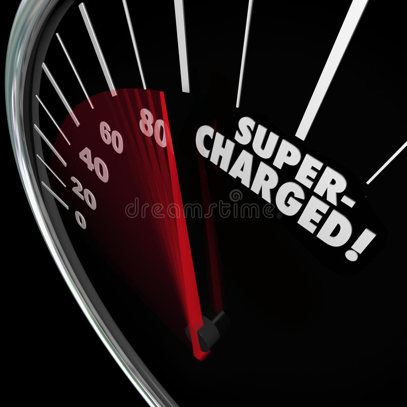 Aangejaagde Word de Verhogings Snellere Verhoging van de Snelheidsmetermacht stock illustratie