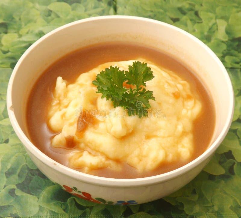 Aangepaste aardappels stock afbeelding