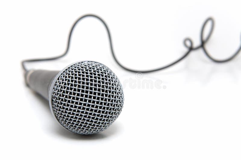 Aangesloten microfoon royalty-vrije stock fotografie