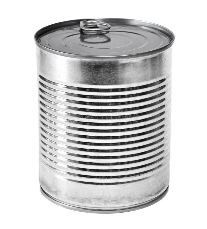 Aangestoken het metaal of het aluminium kan, geïsoleerd stock fotografie