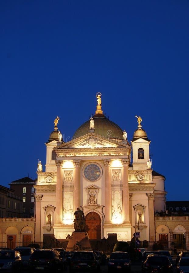 Aangestoken kerk stock afbeelding