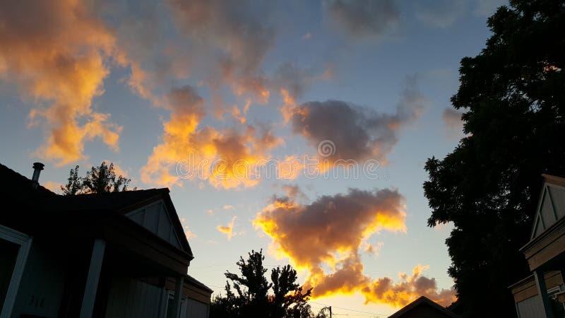Aangestoken wolken royalty-vrije stock foto