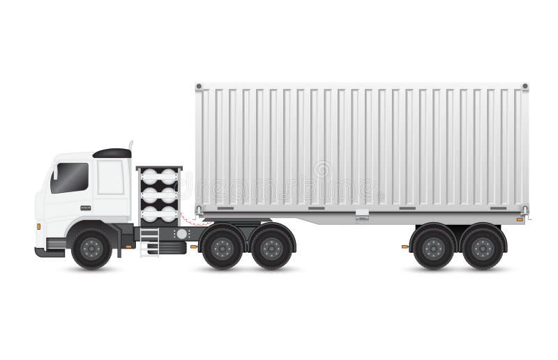 Aanhangwagen en container stock illustratie