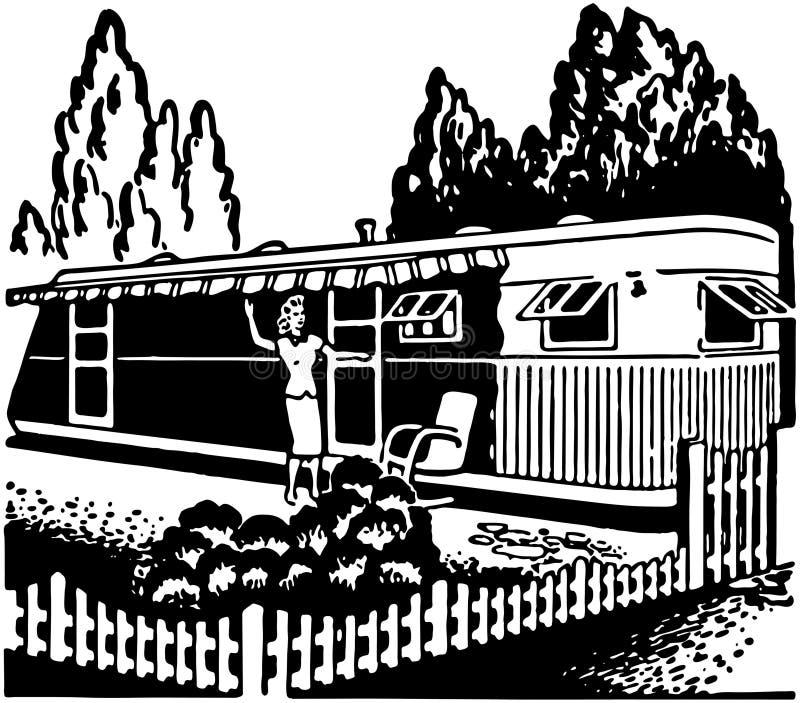 Aanhangwagenhuis stock illustratie