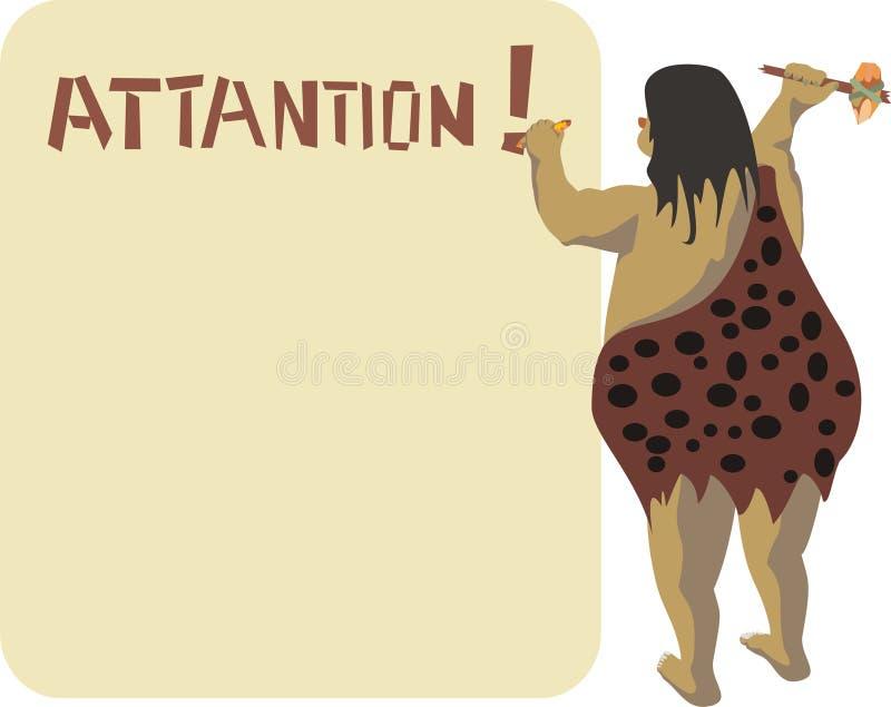 Aankondiging Attantion! royalty-vrije illustratie