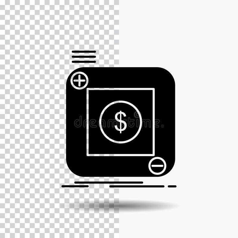 aankoop, opslag, app, toepassing, mobiel Glyph-Pictogram op Transparante Achtergrond Zwart pictogram stock illustratie