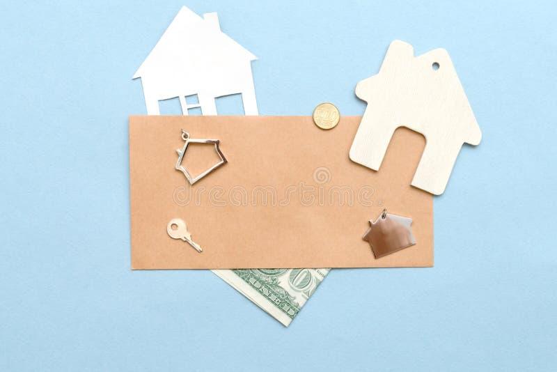Aankoop of verkoop van het huis, flat royalty-vrije stock afbeeldingen