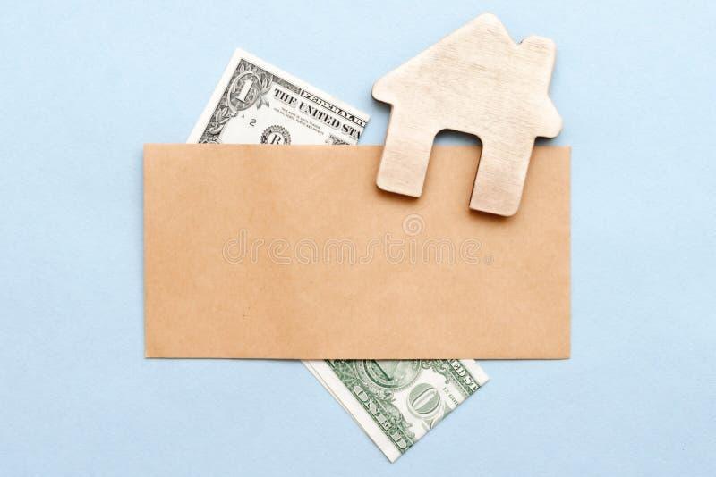 Aankoop of verkoop van het huis, flat stock foto