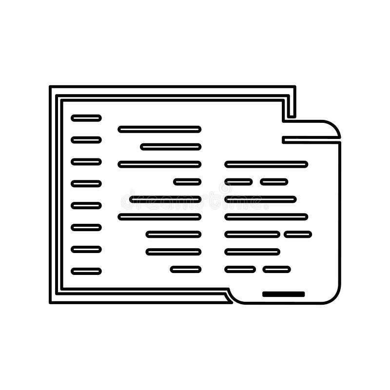 aanpassingscodagepictogram Element van cyberveiligheid voor mobiel concept en webtoepassingenpictogram Dun lijnpictogram voor web stock illustratie