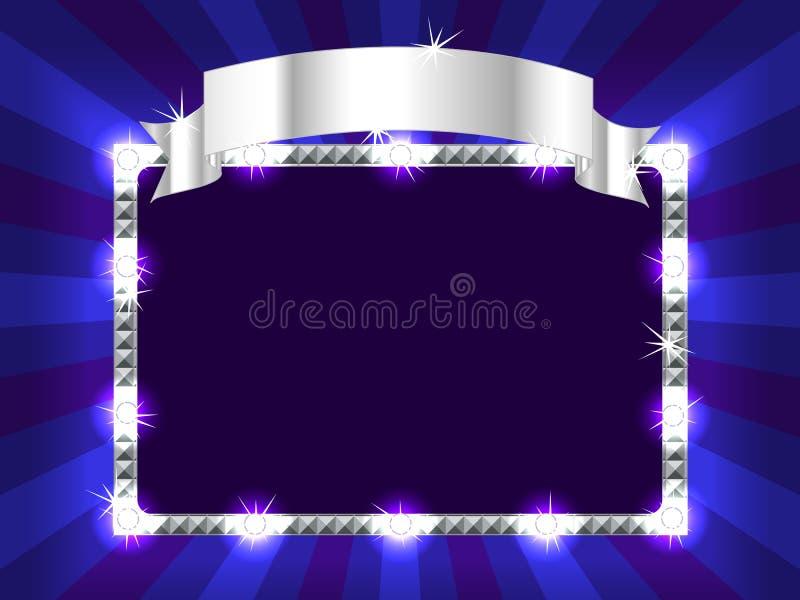 Aanplakbord in blauw vector illustratie