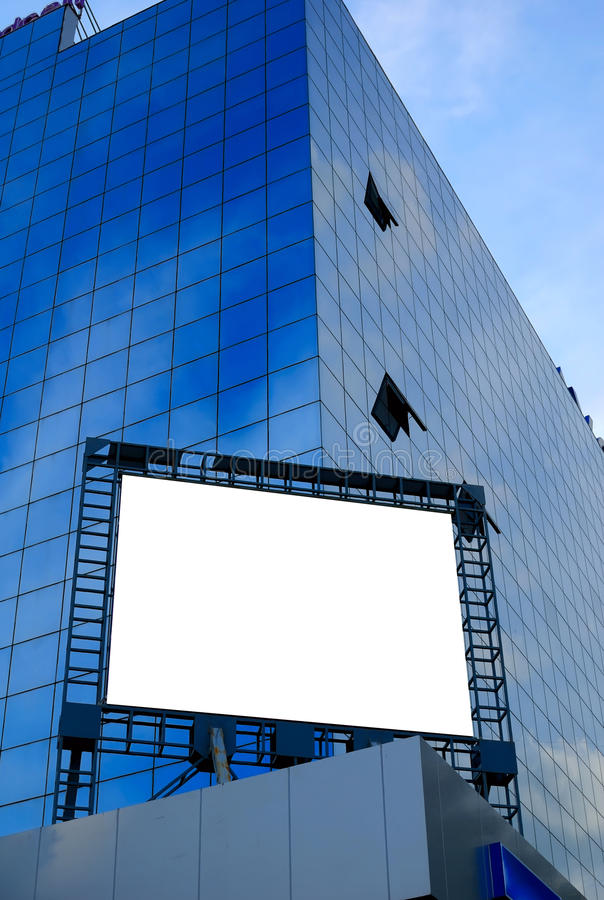 Aanplakbord in de stad royalty-vrije stock afbeelding