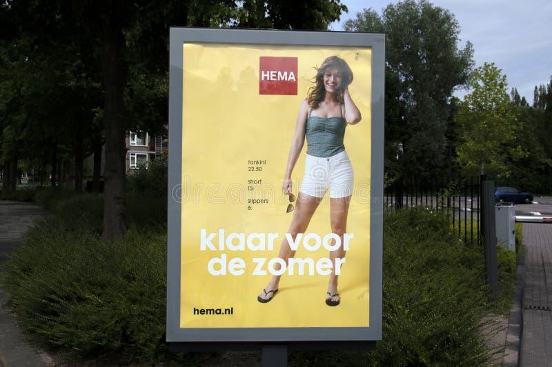 Aanplakbord HEMA At Amstelveen The Netherlands 2019 stock foto's