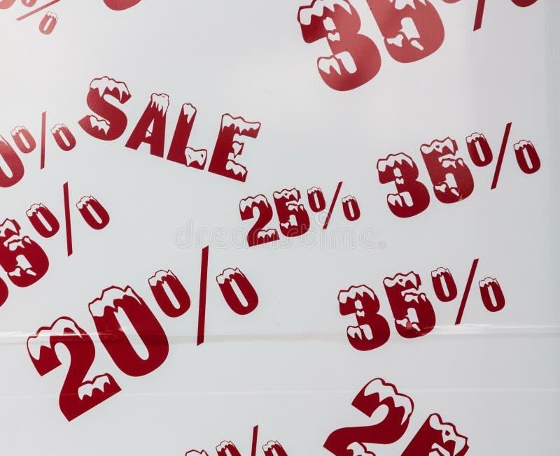 Aanplakbord met de verkoop royalty-vrije stock afbeelding