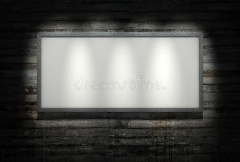 Aanplakbord op betonmuur stock illustratie