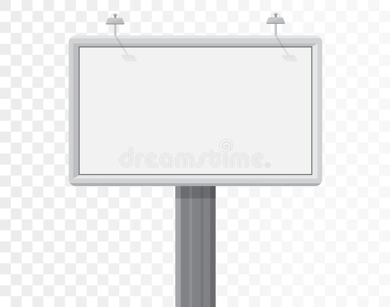 Aanplakbord op de alpha- witte achtergrond stock illustratie