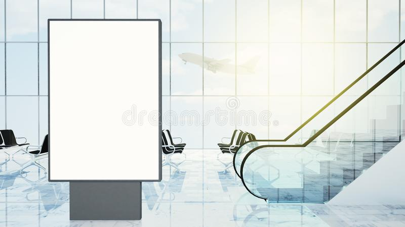 aanplakbord op luchthavenhal royalty-vrije illustratie
