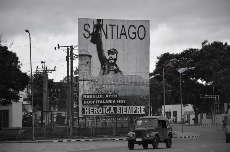Aanplakbord in Santiago de Cuba stock fotografie