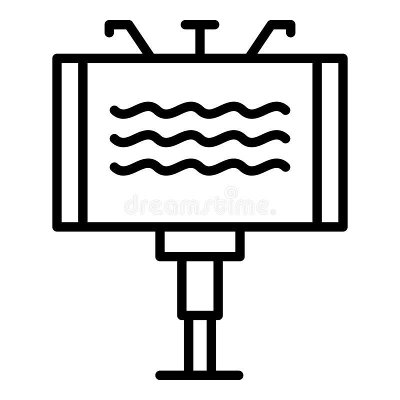 Aanplakbordpictogram, overzichtsstijl royalty-vrije illustratie