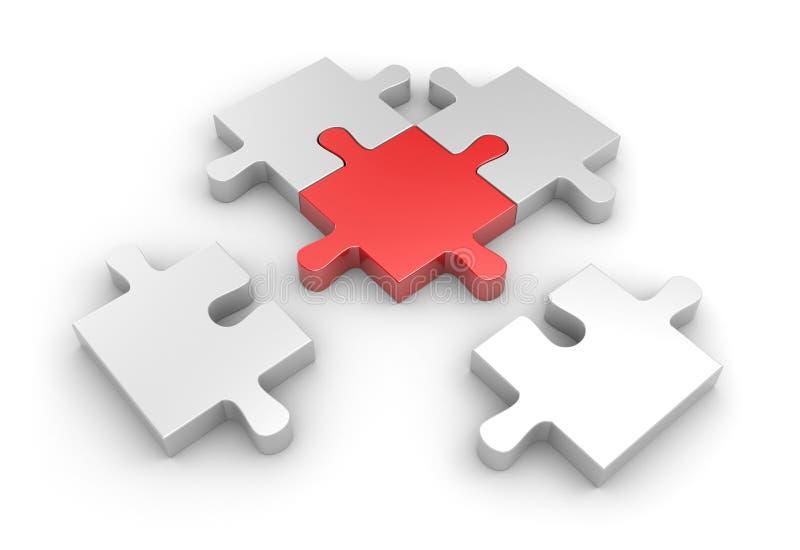 Aansluting aan hoofddeel vector illustratie