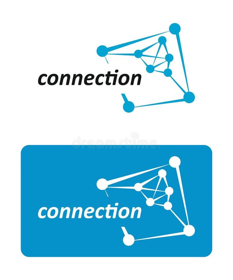 aansluting Digitaal Netwerkverbindingen royalty-vrije illustratie