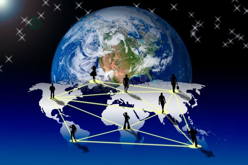 Aansluting met sociaal netwerk royalty-vrije illustratie