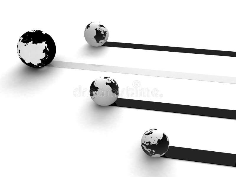 Aansluting wereldwijd stock illustratie
