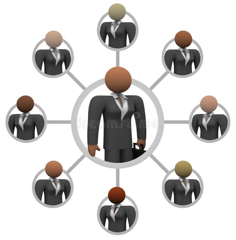 Aanslutingen de van bedrijfs vrouwen van het Netwerk royalty-vrije illustratie