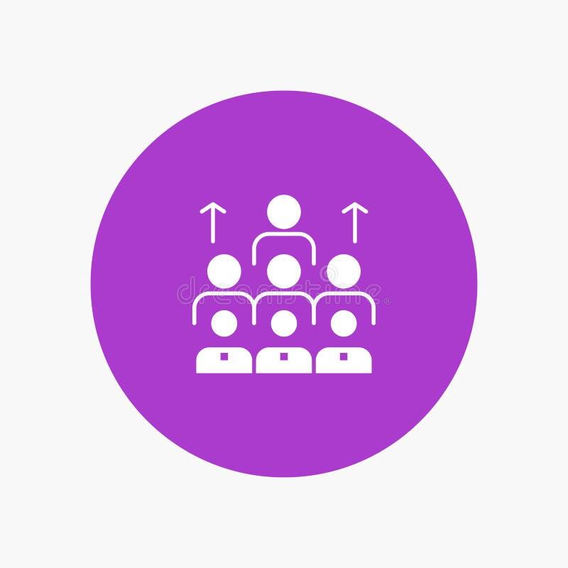 Aantal arbeidskrachten, Zaken, Mens, Leiding, Beheer, Organisatie, Middelen, Groepswerk royalty-vrije illustratie
