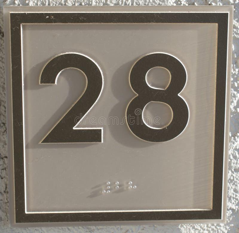 Aantal 28 royalty-vrije stock foto