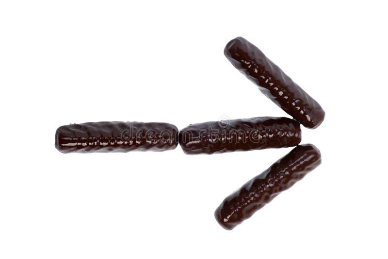 Aantal, cijfer - chocoladestokken stock fotografie