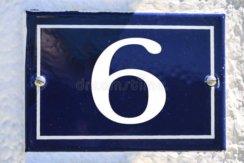Aantal huis in blauwe kleur stock afbeelding