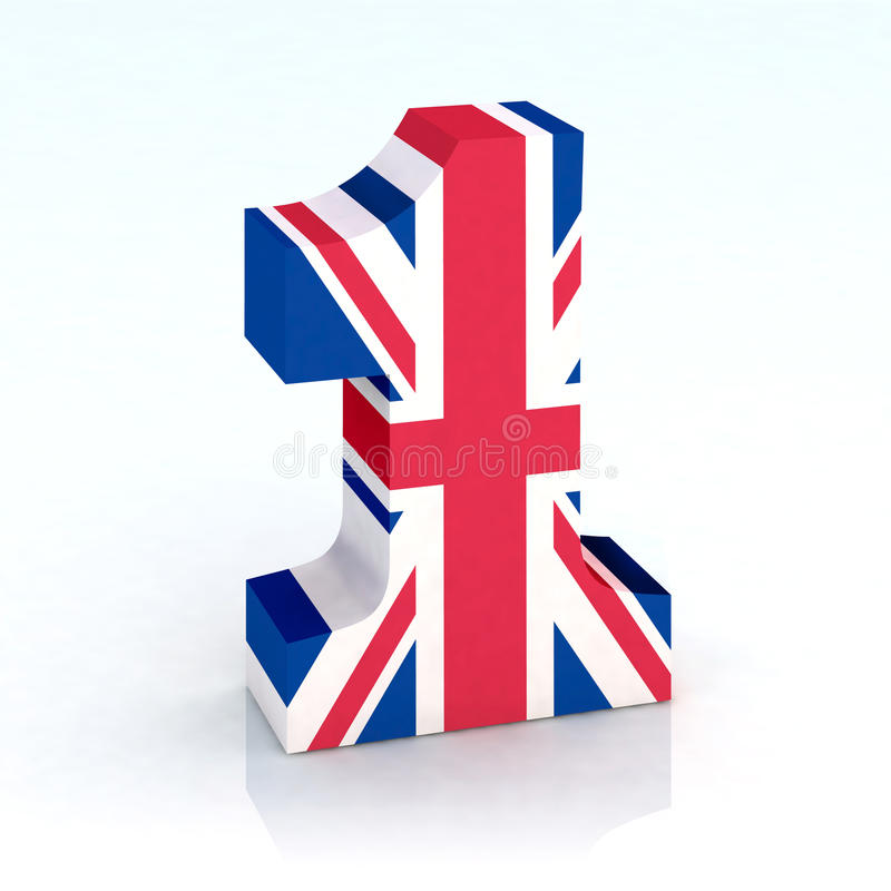 Aantal met Engelse vlag vector illustratie