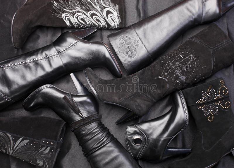 Aantal Vrouwelijke Laarzen Royalty-vrije Stock Foto's