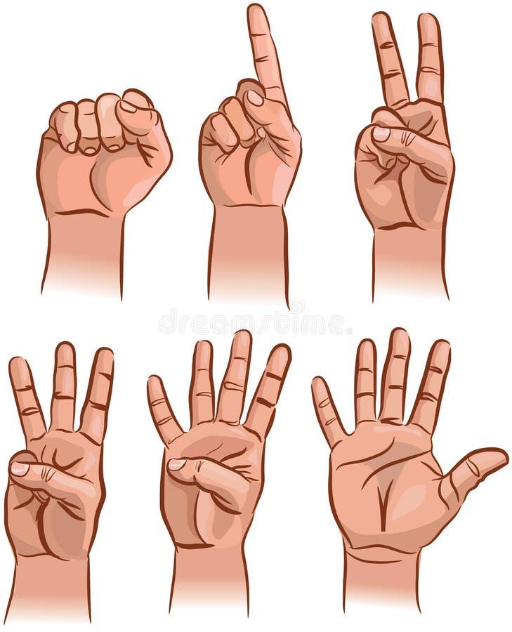 Aantallen op de vingers stock illustratie