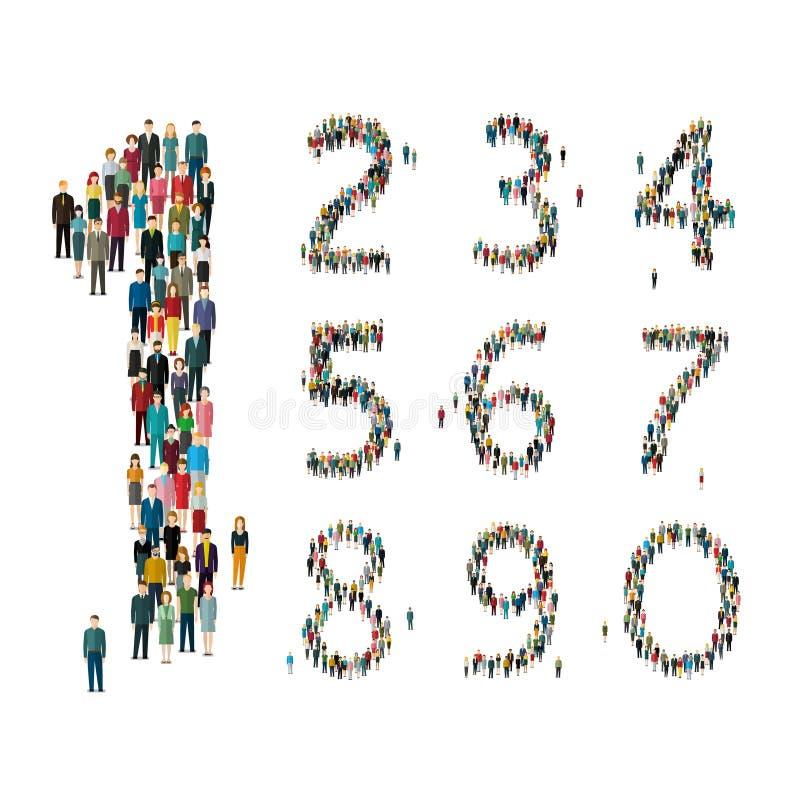 Aantallen uit mensen worden gevormd die Hoogste mening royalty-vrije illustratie