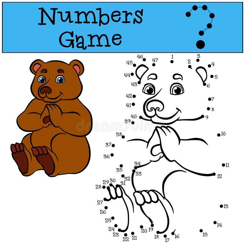 Aantallenspel Leuk weinig draagt stock illustratie