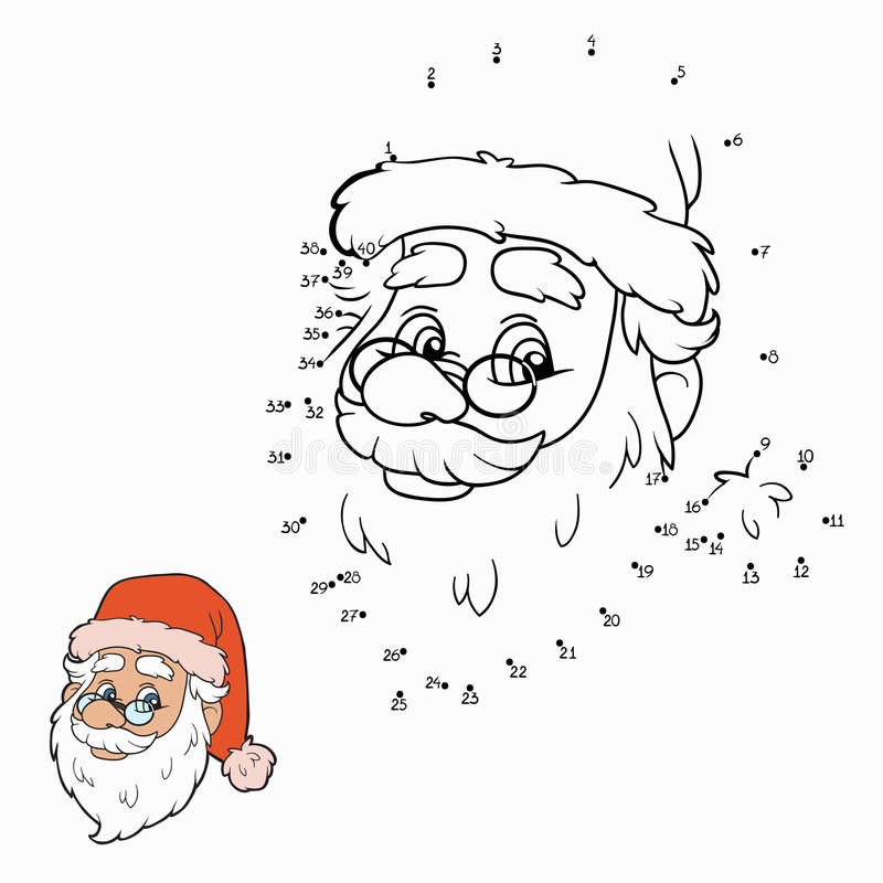 Aantallenspel (Santa Claus) vector illustratie
