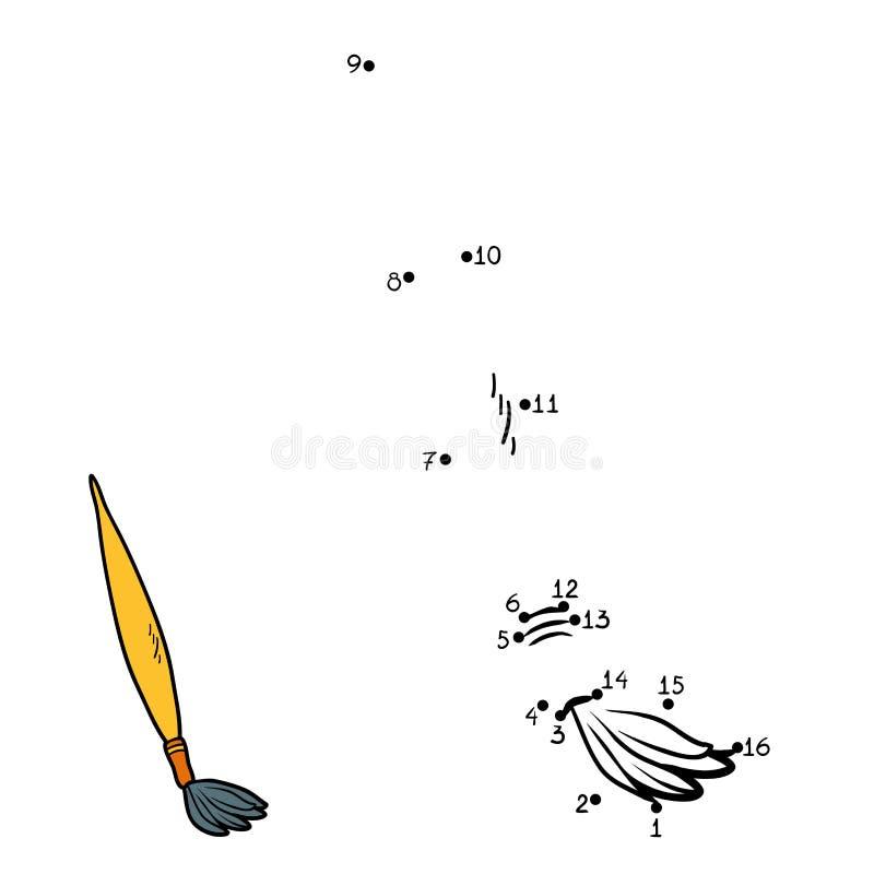 Aantallenspel voor kinderen (penseel) vector illustratie