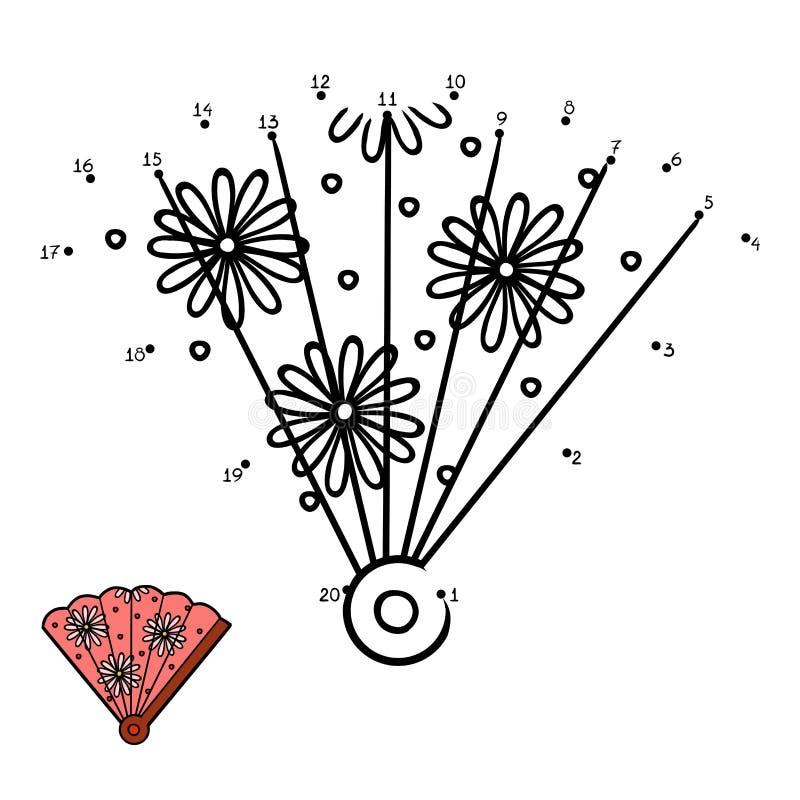 Aantallenspel voor kinderen, Ventilator royalty-vrije illustratie