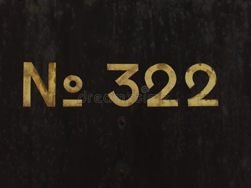 Aantalteken 322 royalty-vrije stock foto