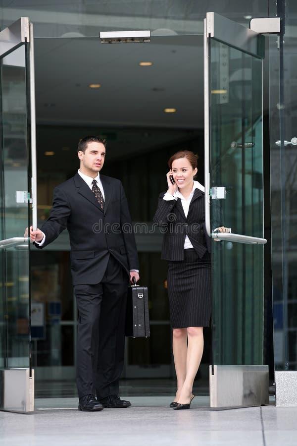 Aantrekkelijk Commercieel Team stock foto