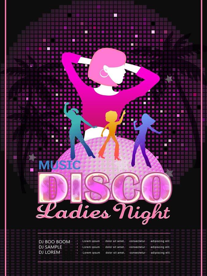 Aantrekkelijk de afficheontwerp van de discopartij royalty-vrije illustratie