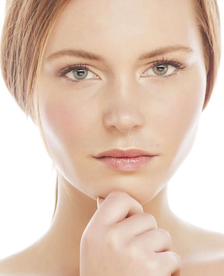 Aantrekkelijk de dame jong rood haar van het kuuroordbeeld stock foto