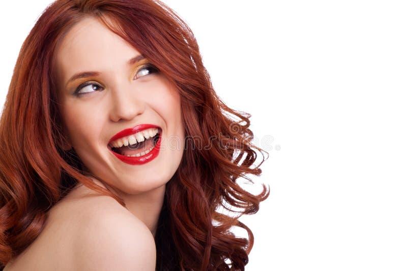Aantrekkelijk het glimlachen vrouwenportret stock foto's
