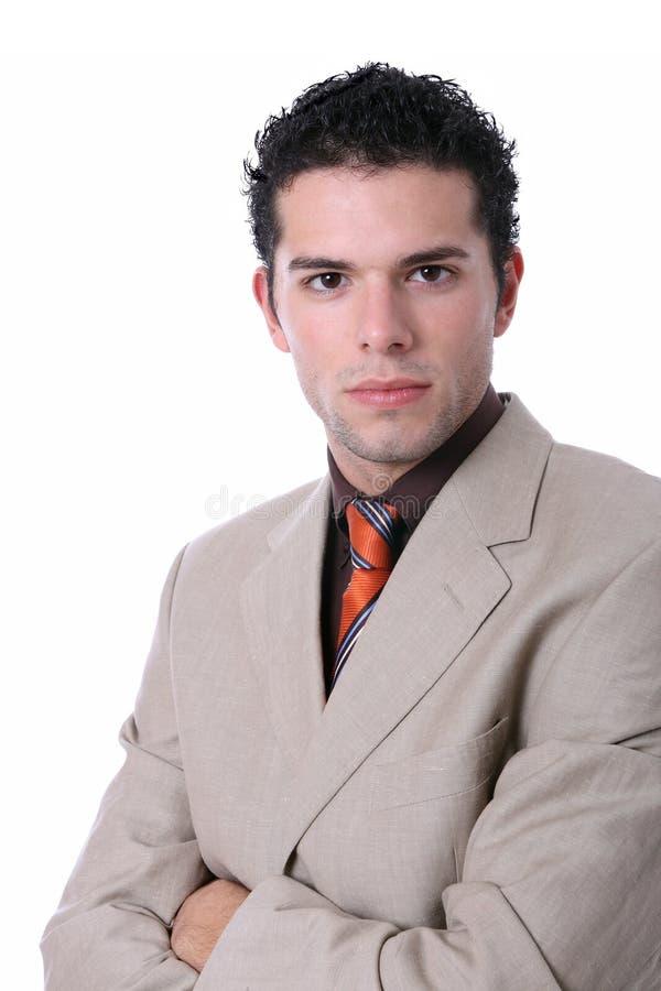 Aantrekkelijk jong bedrijfsmensenportret stock fotografie